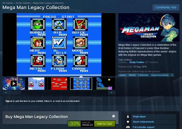 Steam Mega Man Legacy Collection Sale 2016