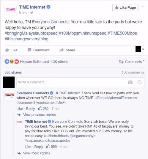 Time v TM FB post