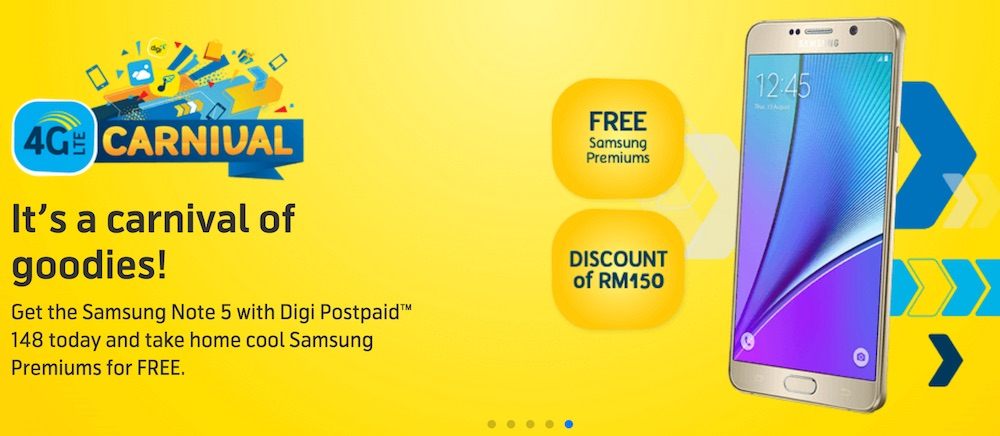 Digi 4G LTE Carnival 2016 Note 5 Discount and Freebies
