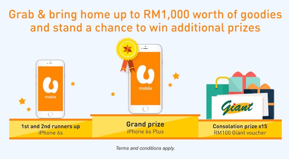 U Mobile Shop Till U Drop Prizes