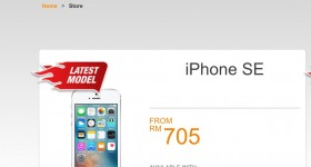 U Mobile iPhone SE From RM705