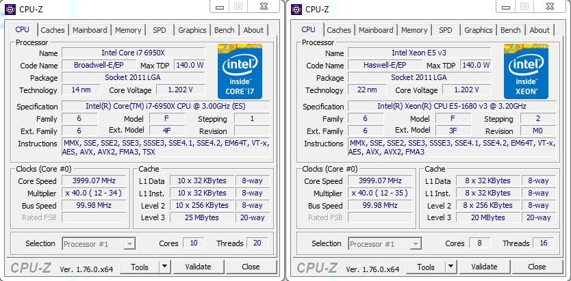 core i7 extreme compare