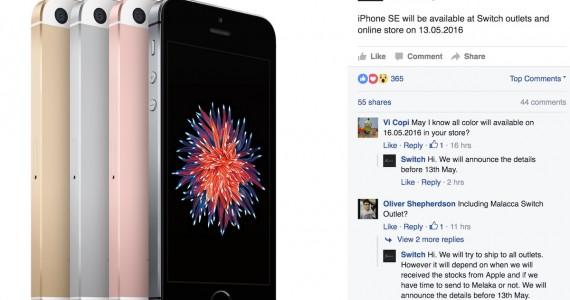 iPhone SE Malaysia 13 May 2016