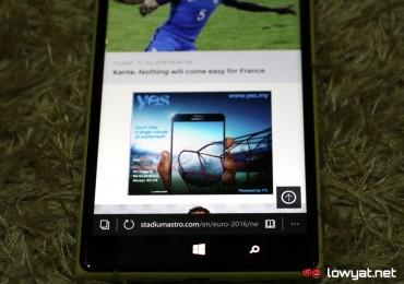 Yes 4G LTE Advert On Stadium Astro