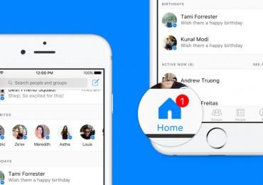 Facebook Messenger New Home Tab