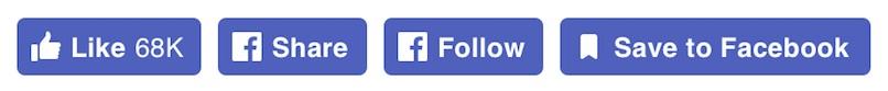 Facebook New Social Plugin Icons
