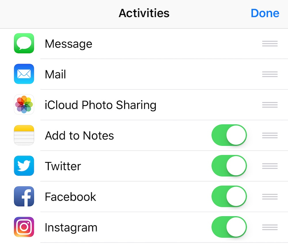 Instagram Share on iOS from Other Apps