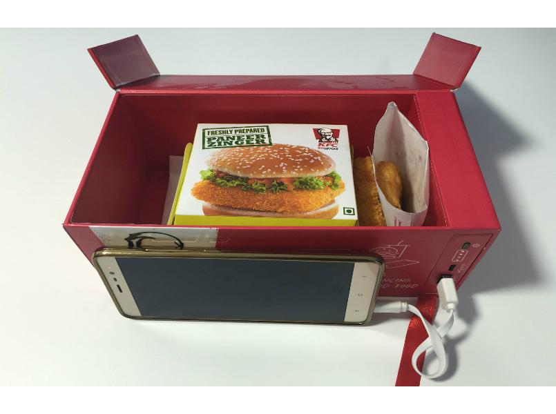KFC Watt a Box Charging Phone