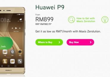 Maxis Huawei P9 Bundle
