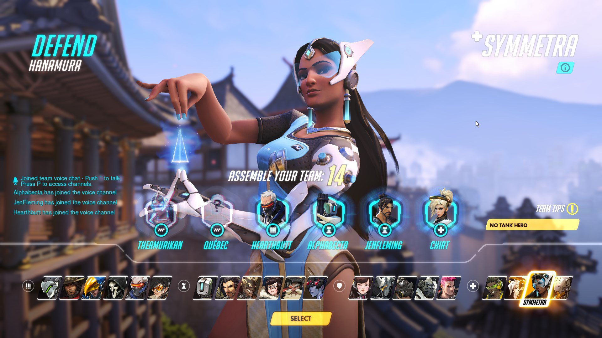 Overwatch Character Selection