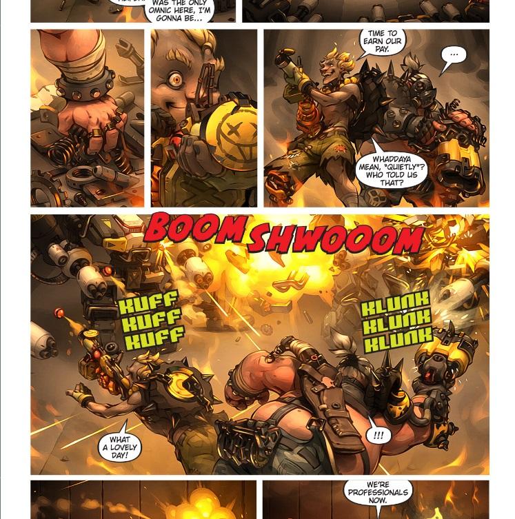 Overwatch Comic Junk Rat & Road Hog
