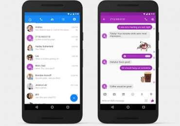 SMS on Facebook Messenger for Android