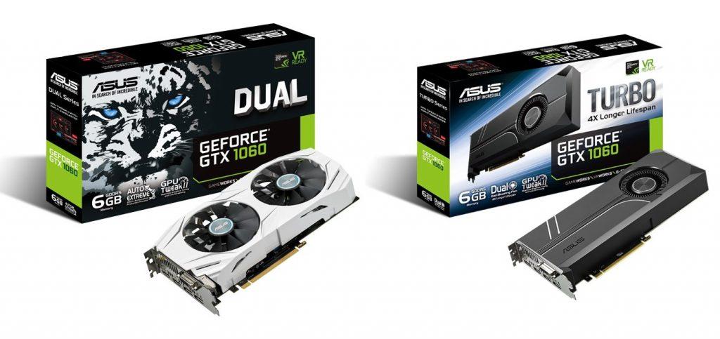 ASUS Dual GTX 1060 and ASUS Turbo GTX 1060