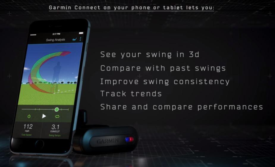 Garmin TruSwing Club Sensor with Garmin Connect Mobile App