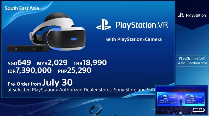 PS VR with PS Camera Bundle Price In Malaysia and Other Selected SEA Countries