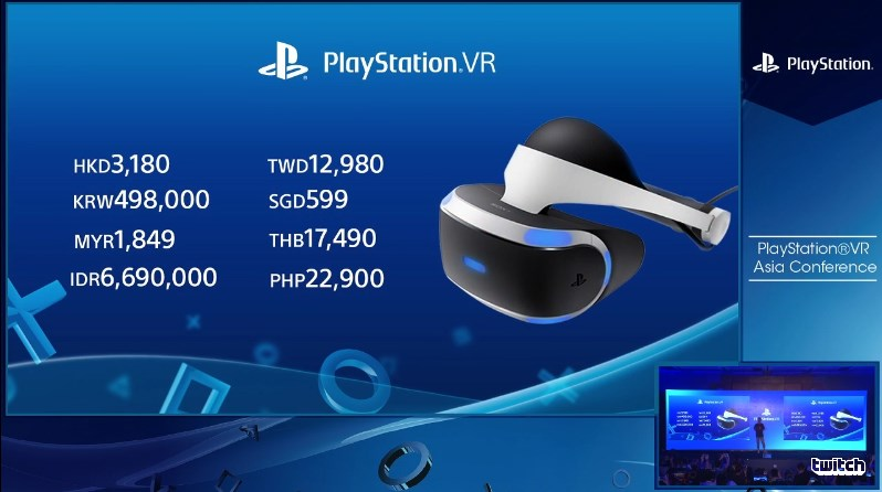 PlayStation VR Price for Malaysia and Other Asia Market
