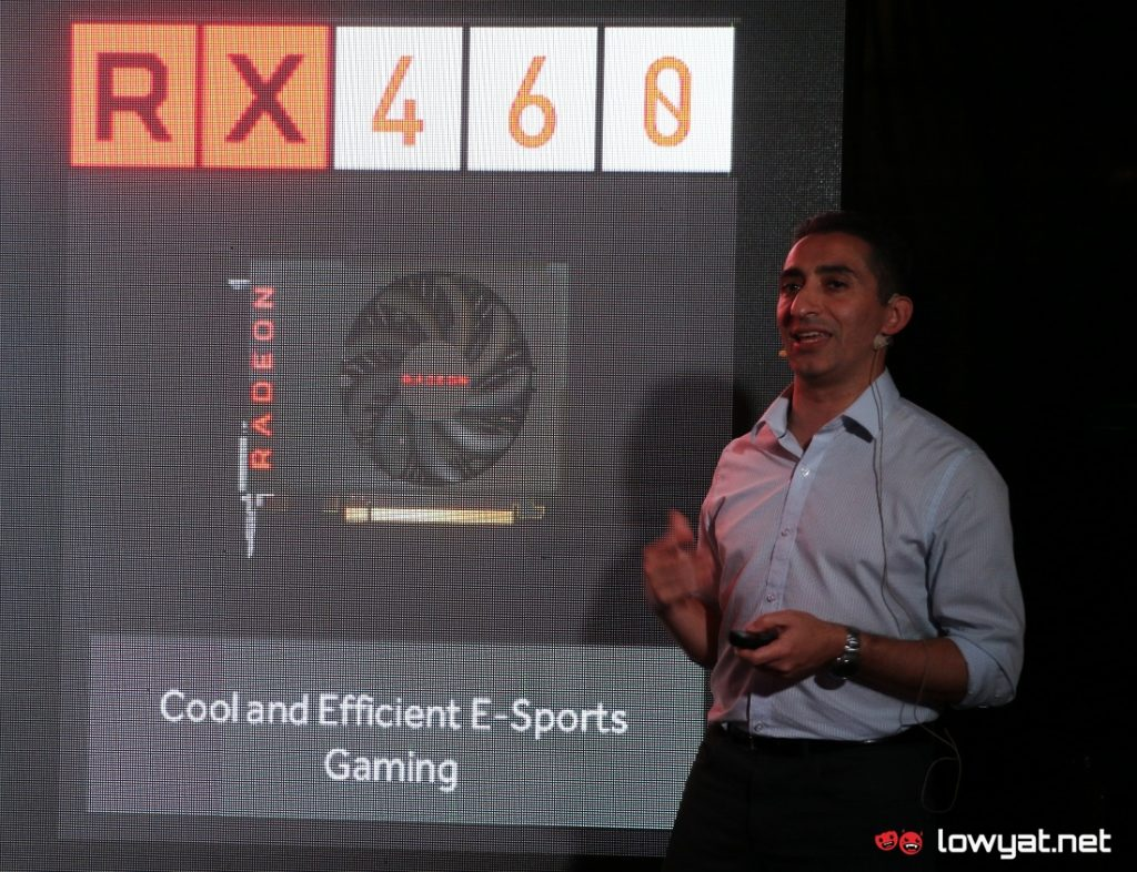 David Nalasco, Senior Technology Manager for Graphics, Radeon Technology Group during AMD Radeon RX 480 launch event in Kuala Lumpur.