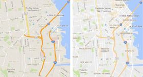 Google Maps Updated with Cleaner Interface