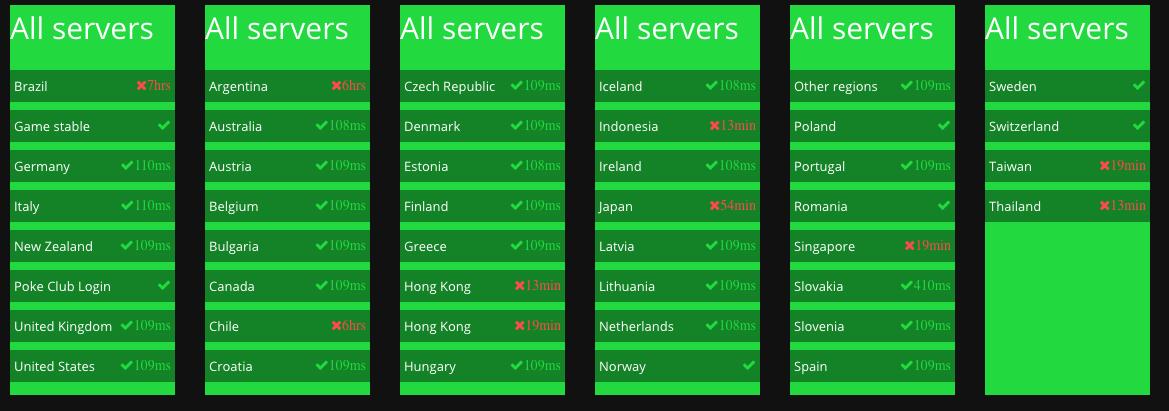 Pokemon Go Servers in Asia