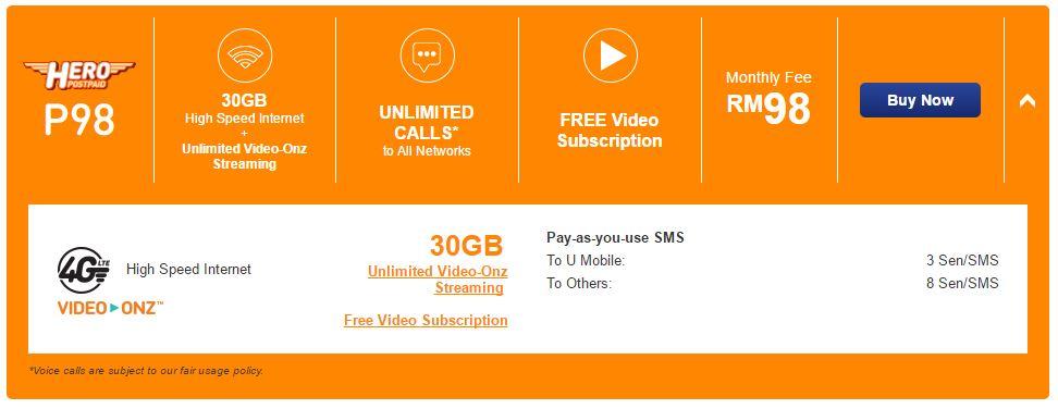 U-Mobile-Hero-P98-Postpaid-Plan