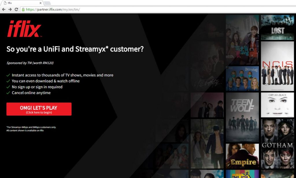 Free iflix for Streamyx Customers