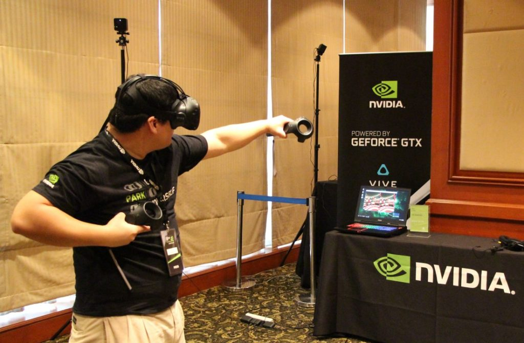HTC Vive on MSI GT73, Powered by NVIDIA GeForce GTX 1080 for Notebooks