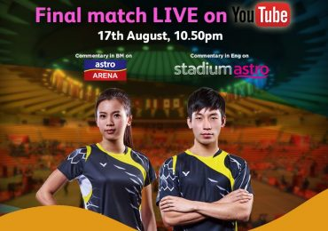 Olympics Rio 2016 Mixed Doubles Badminton Finals on YouTube by Astro