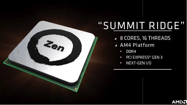 AMD Summit Ridge Processor with Zen Processor Core