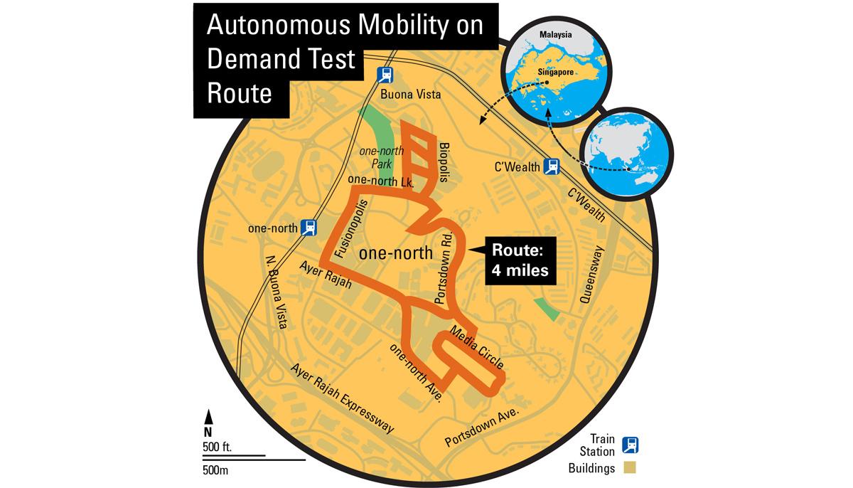 Delpi Singapore Test Route