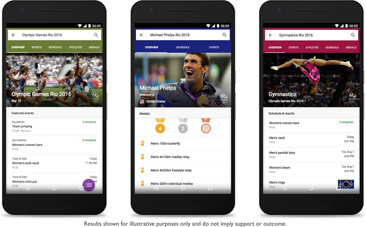 Google Mobile Search Rio 2016