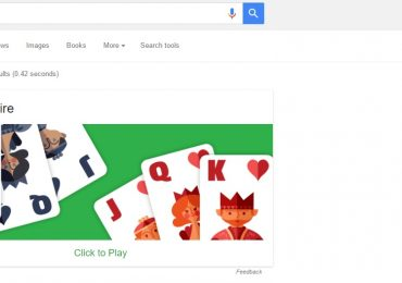 Google Solitaire Screenshot