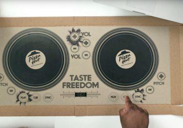Pizza Hut Turntable Box