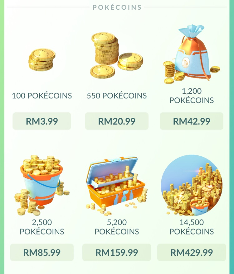 Pokemon Go Buy Pokecoins