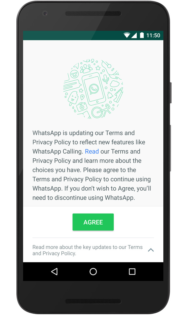 WhatsApp Updated Terms of Service