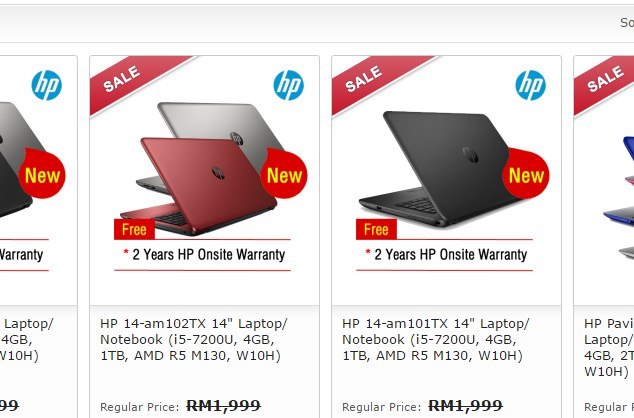HP 14 with 7th Gen Intel Core i5 at Tech Hypermart