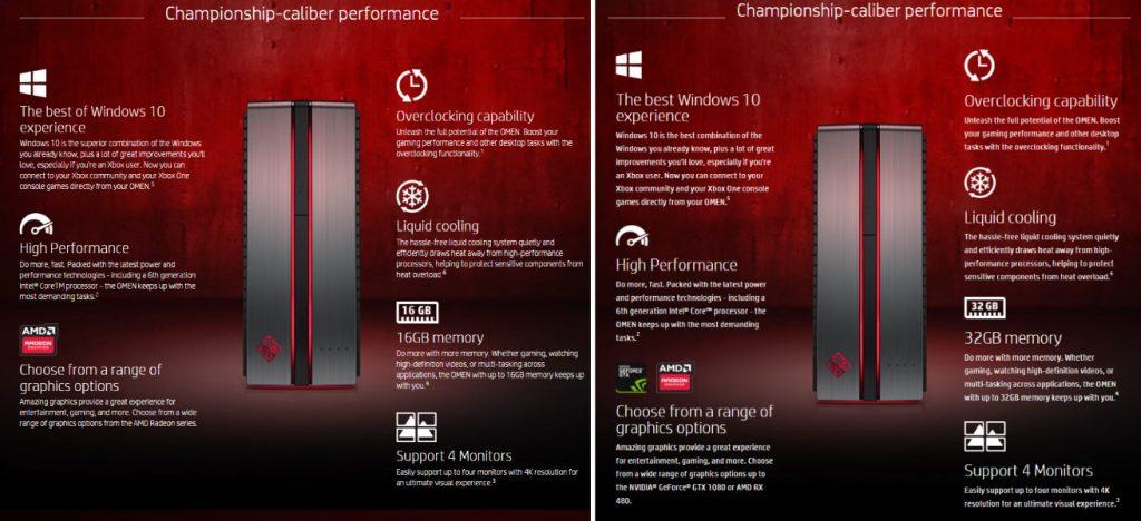 HP Omen Desktop: Comparison of Specs Between HP Malaysia and HP US