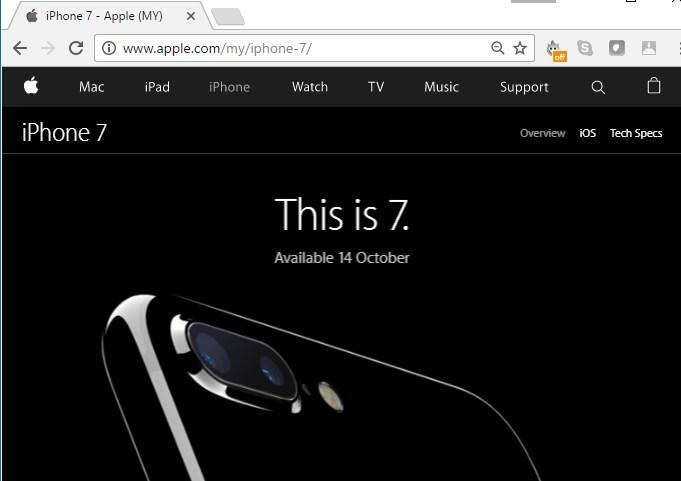Apple Malaysia iPhone 7