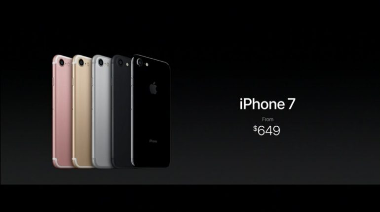 comparison iphone 7 and iphone 7 plus launch price around