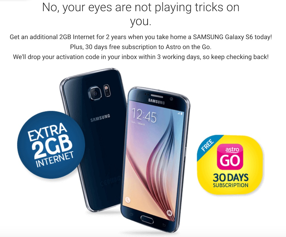 Digi MyCyberSale Galaxy S6 Free 2GB Data