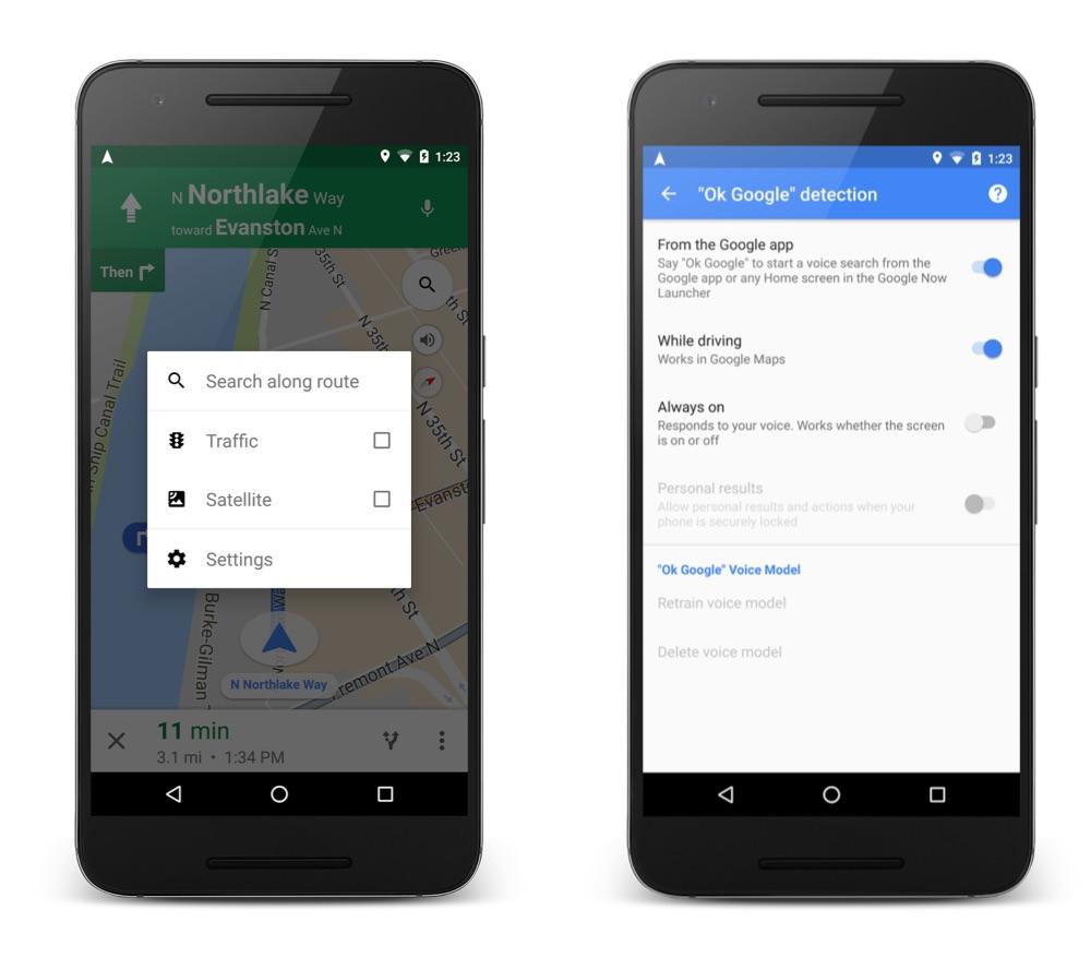Google Maps Voice Command 1