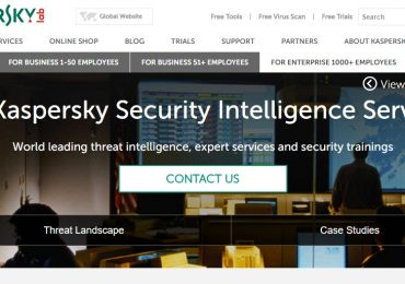 Kaspersky Security Intelligence Services Website