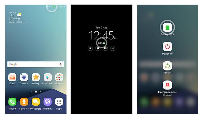 Samsung Galaxy Note 7 Safe Battery Indicator