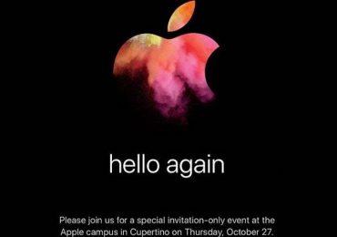 Apple 27 October 2016 Event Invitation
