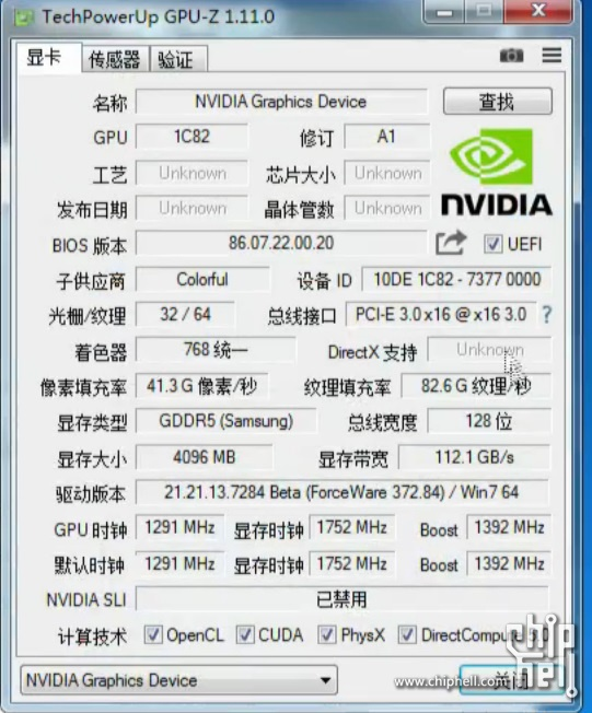 GTX 1050 Ti specs 1