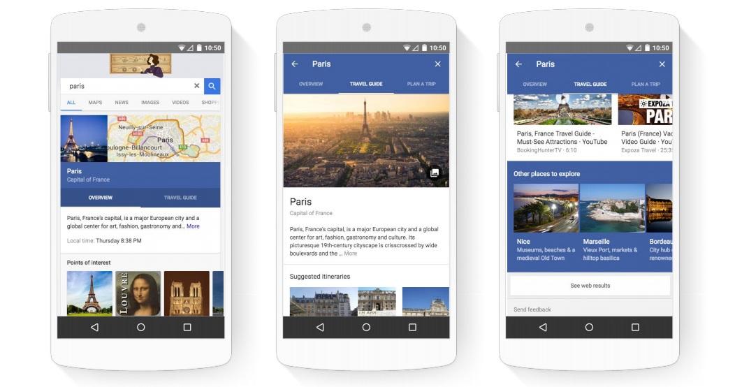 Google Destinations Mobile