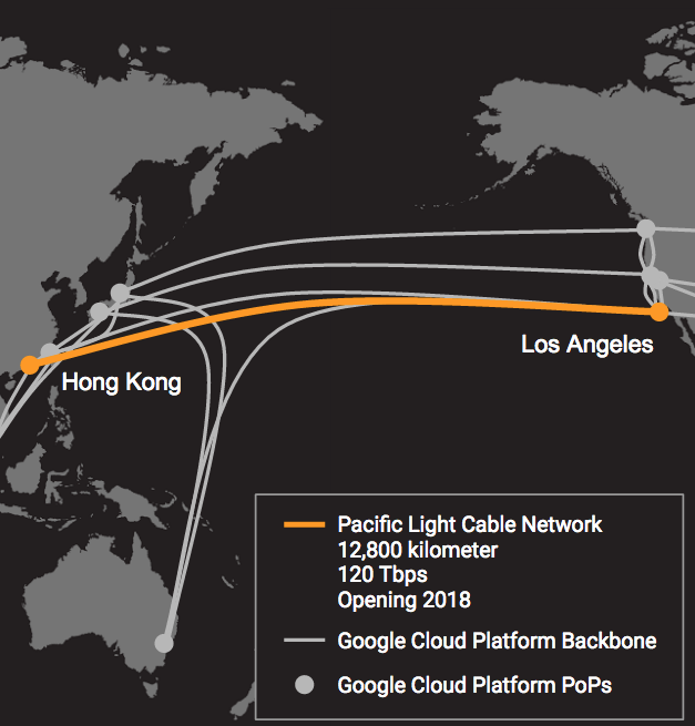 Google PLCN Undersea Cable
