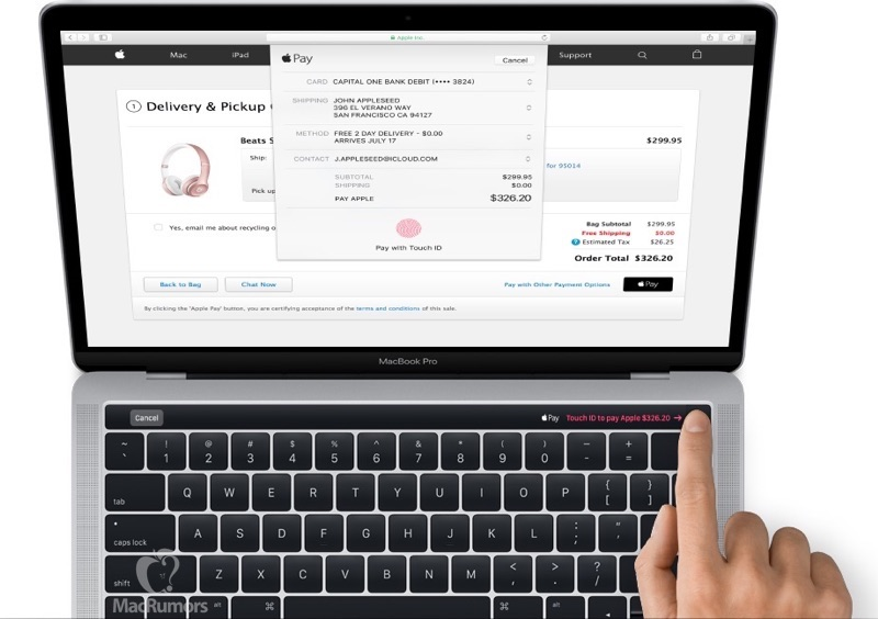 MacBook Pro OLED Touch Bar with Touch ID