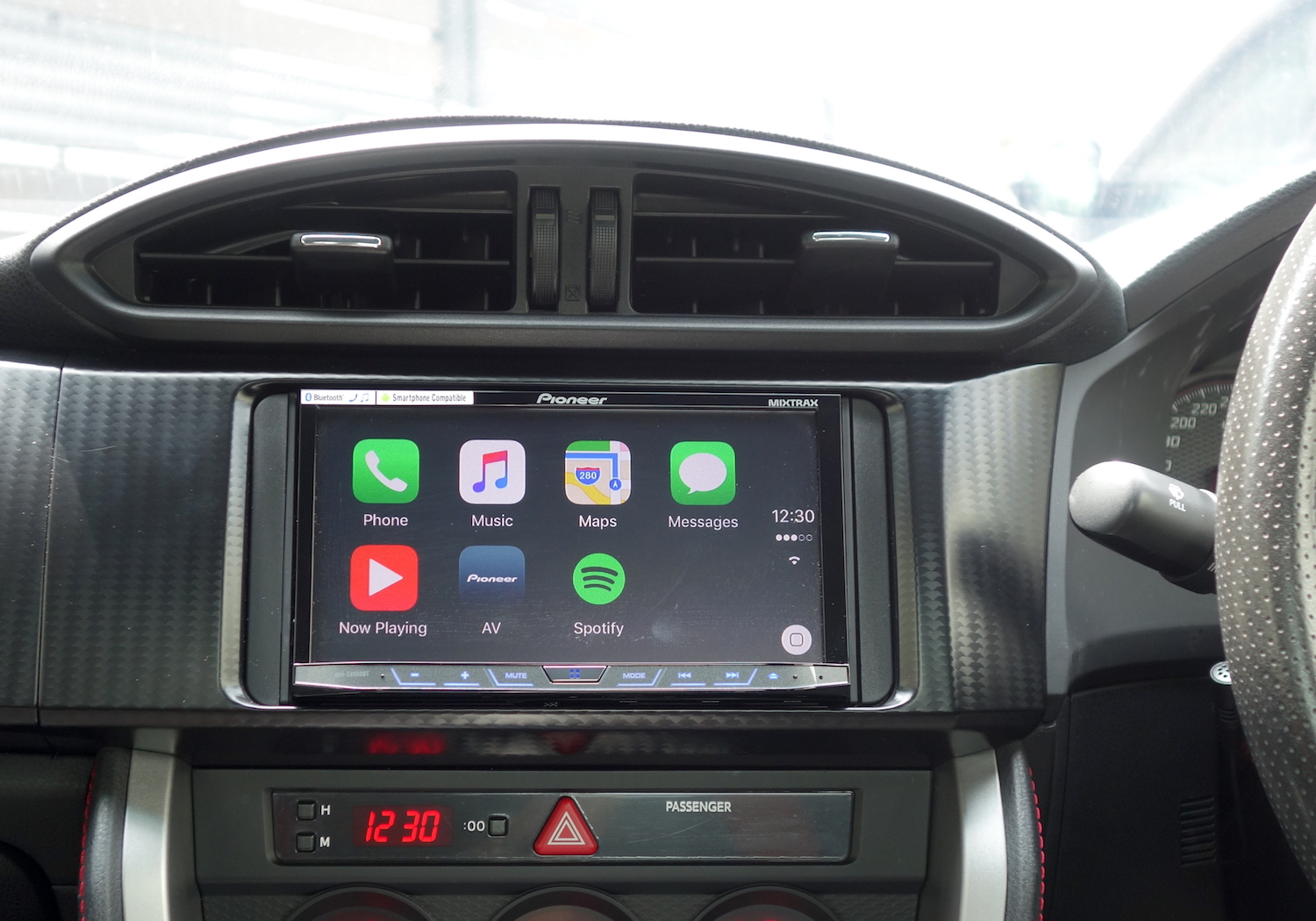 Pionner X8850BT CarPlay Interface