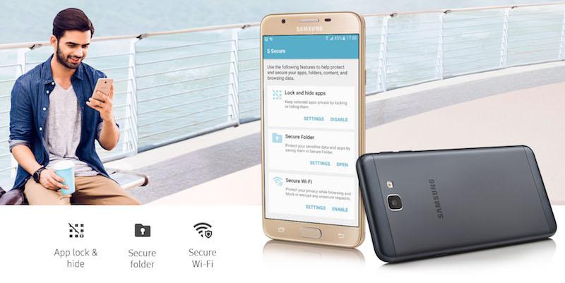 Samsung Galaxy On Nxt Security