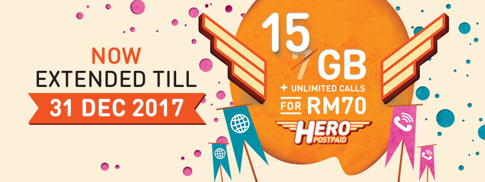 U Mobile Hero Postpaid P70 Extended till 31 December 2017